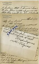 1913 Letterhead Germantown Philadelphia Pennsylvania Mary Davis Ridgway Surgeon