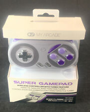 New My Arcade Super Gamepad Wireless Turbo Controller SNES & NES Classic Edition