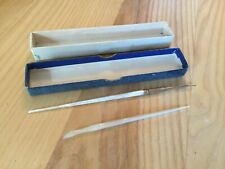 Vintage Mother of Pearl Dip Fountain Pen with Mother of Pearl Scraper Eraser