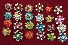 Wholesale Job Lots Mix 12 Brooch, Hijab, Scarf, Abaya Crystal Pins 12 Pc £4.99