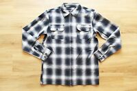 HUF FOLSOM PLAID ZIPPED SHIRT/ HEMD NEU BLACK GR:M HUF WORLDWIDE