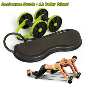 AB Roller Wheel for Abdominal Abs Gym Fitness Roller Resistance Bands