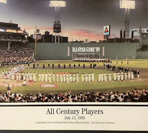 All Century All Star Players Poster 39x13 Baseball 7/13/99 Ted Williams Fenway