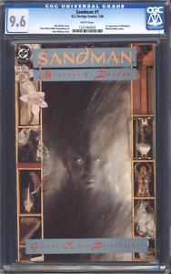 SANDMAN #1 (1989) CGC 9.6 / Neil Gaiman / 1st Morpheus / White pages!