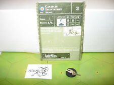 Axis & Allies 1939-1945 Canadian Infantrymen with card 8/60