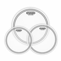 Evans EC2 Frosted Tompack, Clear, Standard (12 Inch, 13 Inch, 16 Inch)