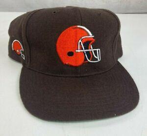 NWOT Vintage Cleveland Browns American Needle Blockhead SnapBack Hat 100% Wool