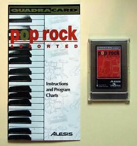 Alesis Pop Rock QuadraCard QCard w/Booklet, Case, LIFETIME Warranty QS QSR 2Slot