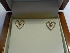 Clogau 9ct Welsh Gold 'Bleeding Hearts' Earrings