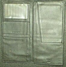 Royce Leather Passport Ticket Holder - Black Travel Wallet NEW BlCK INSIDE & OUT