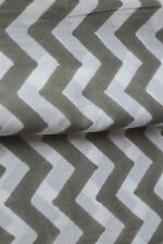 Striped Indian Hand Block Material Voile Dress Running By 2.5 Yard Fabric Light