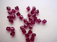 30 Swarovski® Kristall Perlen Xilion Beads 4mm FUCHSIA (502) Art. 5328