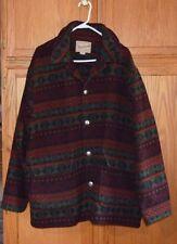 VINTAGE WOOLRICH colorful southwestern indian navajo blanket coat/jacket  XL GVC
