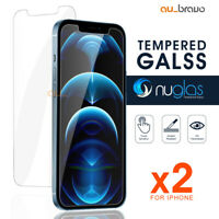 2x NUGLAS iPhone 12 Mini 11 Pro Max Tempered Glass Screen Protector For Apple