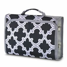 Fashion Jewelry Hanging Travel Camping Closure Organizer Roll Bag Black
