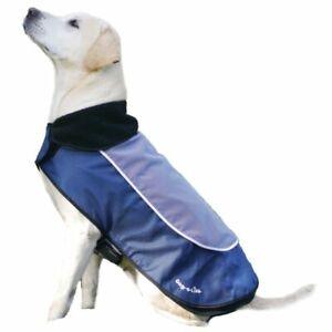 """Rosewood Luxury Light up Dog Coat Blue 18"""" SALE"""