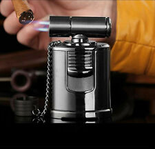 Best Cigar Lighter - High End Table Top 4 Jet Adjustable Torch -Windproof