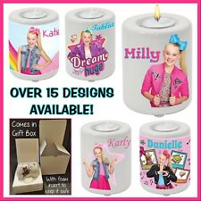 Personalised Jojo Siwa Tea Candle Holder - Gift Idea - Any Name or Text - Bow