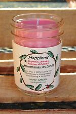 HAPPINESS Aromatherapy CLEAN Burn SOY CANDLE  patchouli lavender grapefruit