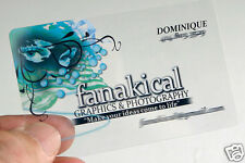 Frosted Transparent Business Namecard & Classic Business Namecard
