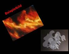 Airbrush Schablonen / Stencil 0565 True Fire 6 vers.Größen