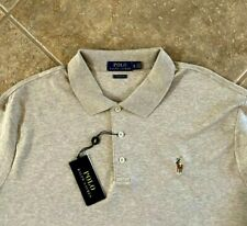 Polo Ralph Lauren Cotton Interlock Shirt Men XXL Beige wPony Classic Fit NWT $89