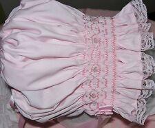 Girls Smocked Baby Bonnet Pink Cap Hat