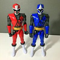 """Red & Blue Power Rangers Ninja Steel 30cm/12"""" Figures Bandai"""
