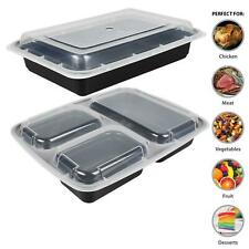Meal Prep Food Containers Microwave BPA Free Plastic Lunch Box Stackable Lids