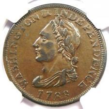 1783 Unity Washington and Independence Cent 1C - NGC AU50 - $550 Value!