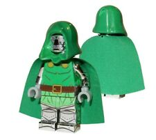 **NEW** Custom Printed - CHROME DR. DOOM - Fantastic 4 Building Block Minifigure