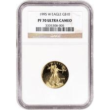 1995-W American Gold Eagle Proof 1/4 oz $10 - NGC PF70 UCAM