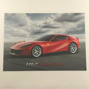 Ferrari 812 Superfast Advertising Card Postcard Brochure Super Fast