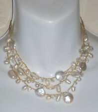 New ELLY PRESTON 'MAEVE' PEARL & CRYSTAL NECKLACE