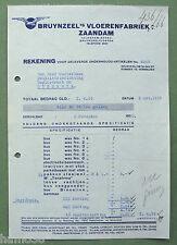 Piet ZWART c.1934: Bruynzeel Rekening; letter head, Huszar logo
