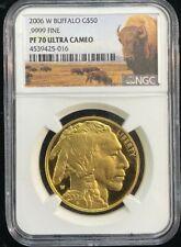 2006 W Buffalo $50 Dollar Gold Coin NGC PF 70 Ultra Cameo BUFFALO LABEL
