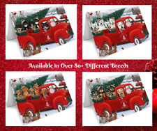 Red Truck Express Delivery Christmas Santa Greeting Cards, Dogs, Cats Photos