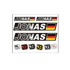 """Jonas"" Auto Fahrrad Motorrad Kart Helm Fahrername Aufkleber Sticker Flagge"