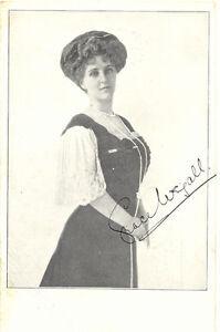 GRACE WIGALL, Neujahrskarte selt. Englische Autogrammkarte um Jahrhundertwende