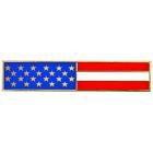 EL6-021 Gold US Flag Metal and Cloisonné Citation Commendation Bar Pin Police CB