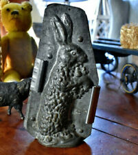Antique Full Body Two Piece Standing Rabbit Chocolate Mold *