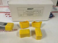 """(10/BOX) Shallow YELLOW End Caps for Unistrut Channel 13/16"""" #4882Y P2860-33"""