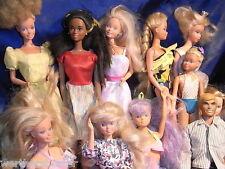 Sammlung von 11 Puppen u.a. Barbie - Petra - ect. - bespielt aber sammelwürdig