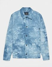 PS PAUL SMITH TIE DYE OVERSHIRT DENIM BLUE SIZE SMALL S - NEW & GENUINE RRP £275
