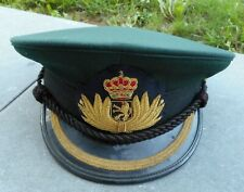 BELGIQUE - 1980 SERVICE MEDICAL - KEPI OFFICIER SUPERIEUR + INSIGNE BRODE