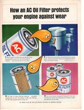 Vintage Print advertisement ad How an AC Oil Filter Protects Your Car cool art