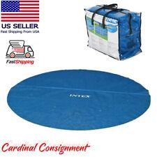 Intex 29022E 12-Foot Easy Set Metal Frame Swimming Pool Solar Cover Tarp, Blue