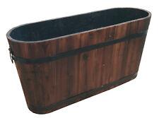 madera bottich ovalado de maciza Rústica Barril Bebidas Jardín