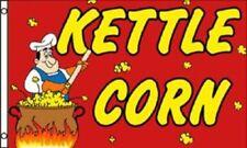 3x5 Advertising Kettle Corn Flag 3'x5' Brass Grommets