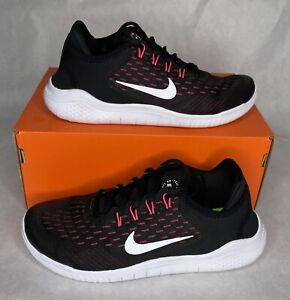 NEW Nike Free RN 2018 (GS) Running Shoes Sz 6.5Y-7Y Black Pink (AH3457-001)